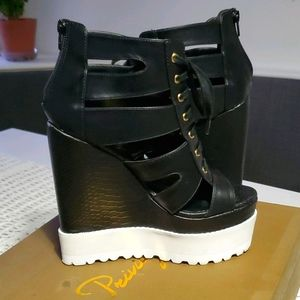 Privileged Lace Up Intrepid Wedge